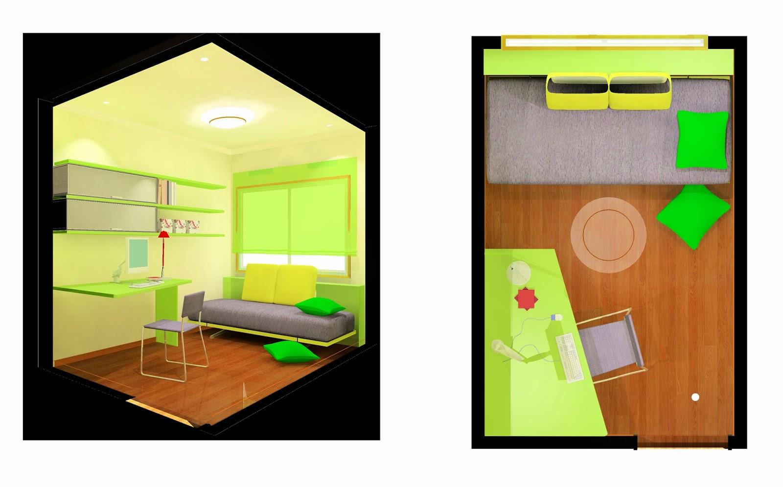 Projecte de dormitori juvenil per un pis a Barcelona.
