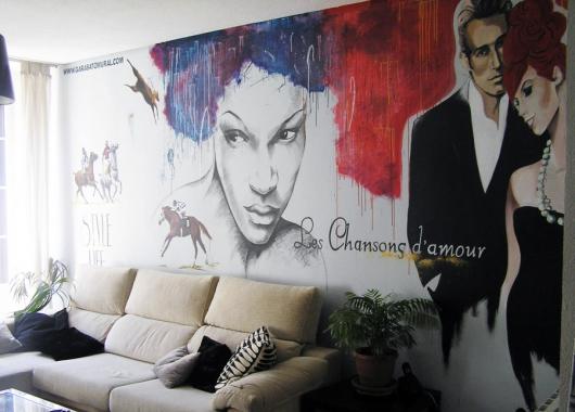 Mural realizado por garabatomural